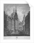Ludgate Hill, Church of St Martin within Ludgate and St Paul's Cathedral, City of London by Thomas Malton II