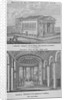 Two views of St Mary's Roman Catholic Church, Moorfields, City of London by Anonymous