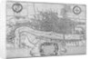 Map of the City of London and City of Westminster in c1600 by