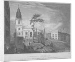 South-east view of the Church of St Michael, Crooked Lane, City of London by John Wells