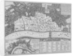 Map showing the extent of the damage caused by the Great Fire of London by Wenceslaus Hollar