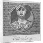 Stone bust of a female figure on the front of the Three Bucks Tavern, Old Jewry, London by Anonymous