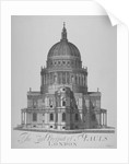 East view of St Paul's Cathedral, City of London by Anonymous