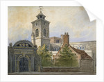 View of the Church of St Olave, Hart Street, from Seething Lane, City of London by William Pearson