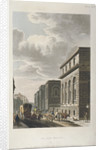 View of Old Bailey, looking north, City of London by Rudolph Ackermann