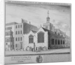 North-east view of the Church of St Martin Outwich, Threadneedle Street, City of London by William Henry Toms