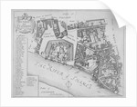 Map of the area around the Tower of London and St Katharine by the Tower, Stepney, London by