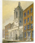 North-east view of the Church of St Peter-le-Poer and Old Broad Street, City of London by William Pearson