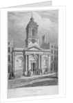 Church of St Peter-le-Poer with the congregation entering, City of London by