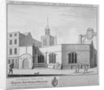 South-east prospect of the Church of St Peter-le-Poer, City of London by William Henry Toms