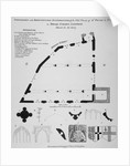 Iconography, architectural details and sections of the Church of St Peter-le-Poer, London by