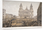 Funeral of the Duke of Wellington, St Paul's Cathedral, City of London, 18 November by Day & Son