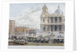 Funeral procession of Lord Nelson outside St Paul's Cathedral, City of London by Sir Christopher Wren