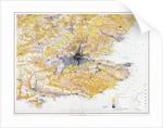 Map of London and south-east England by John Bartholomew