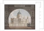 North-east view of St Paul's Cathedral through an archway, City of London by Anonymous