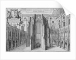 Part of the side of the old St Paul's Cathedral, City of London by Wenceslaus Hollar