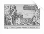 St Paul's Cross and old St Paul's Cathedral, City of London, 1621 by Anonymous