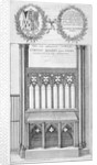 Tomb of Roger Niger, Bishop of London, in old St Paul's Cathedral by Wenceslaus Hollar