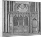 Tomb of Thomas Kemp in old St Paul's Cathedral, City of London by Wenceslaus Hollar