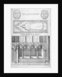 Tomb of Sir Ralph de Hengham in old St Paul's Cathedral, City of London by Wenceslaus Hollar