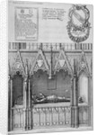 Tomb of Simon Burley in old St Paul's Cathedral, City of London by Wenceslaus Hollar