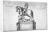 Statue of Charles II at the entrance of Cornhill in the Stocks Market, Poultry, London by