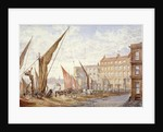 View of Maidstone Wharf, Queenhithe, City of London by Alfred Slocombe