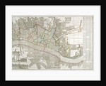 Map of Westminster, the City of London, Southwark and surrounding areas by