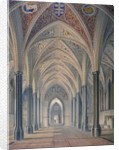 Interior view looking west, Temple Church, City of London by Anonymous