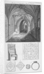 Interior view of the porch of St Sepulchre Church, City of London by J Swaine