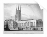 View of St Sepulchre Church, Skinner Street, City of London by S Lacey