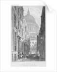 View of St Paul's Cathedral from Sermon Lane, City of London by James Sargant Storer