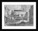 View of the demolition of the Saracen's Head Inn, Snow Hill, City of London by