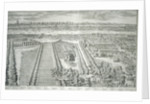 Panoramic view of the City of London and Westminster showing St James's Park by