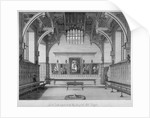 Interior of Middle Temple Hall, City of London by James Peller Malcolm