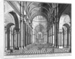 Interior view of St Paul's Cathedral, looking east along the nave, City of London by Anonymous