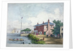 View of the Red House Inn on the banks of the River Thames, Battersea, London by Anonymous