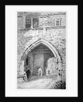 View of King John's Gate in the Abbey of St Saviour, Bermondsey, London by