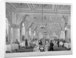 The coffee room in the London Bridge Railway Terminus Hotel, Bermondsey, London by Vincent Brooks