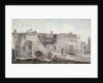 View of the ruins of part of the Priory of Holy Trinity, Aldgate, City of London by Robert Blemmell Schnebbelie