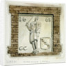 Effigy of Guy, Earl of Warwick, on the wall of a house in Warwick Lane, City of London by Frederick Nash