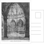 Interior view of Temple Church, looking towards the organ, City of London by