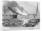 Destruction of Sir C Price's oil warehouse and wharf, William Street, Blackfriars, London by Anonymous