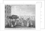 North-west view of Temple Gardens with figures walking and children playing, City of London by