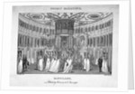Interior view of figures in the Rotunda in Ranelagh Gardens, Chelsea, London by Thomas Rothwell
