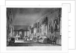Interior view of Dr Fisher's apartments, Charterhouse, Finsbury, London by Joseph Constantine Stadler