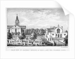 Back view of the Church of St John at Hackney and a grammar school, London by Dean and Munday