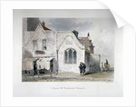 View of St Bartholomew's Chapel, Kingsland Road, Hackney, London by John Wykeham Archer