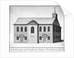 North-east view of the Church of St George the Martyr, Queen Street, Holborn, London by Anonymous