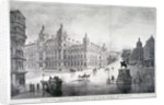 View of an improvement scheme for the area around Charing Cross, Westminster, London by James Akerman